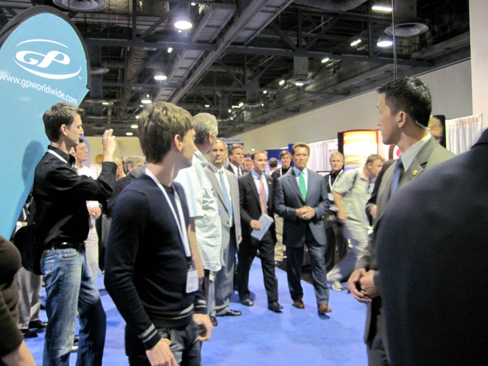 Arnold Schwarzenegger's visit to the NHA Hydrogen Conference & Expo 2010